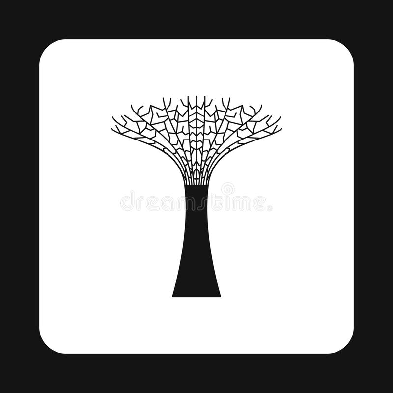 Artificial tree in Singapore icon, simple style stock illustration