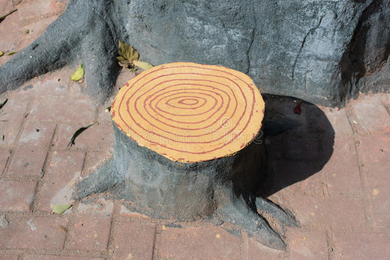 Download Artificial Tree Stump Chair Stock Image   Image Of Decoration,  Artificial: 48729175