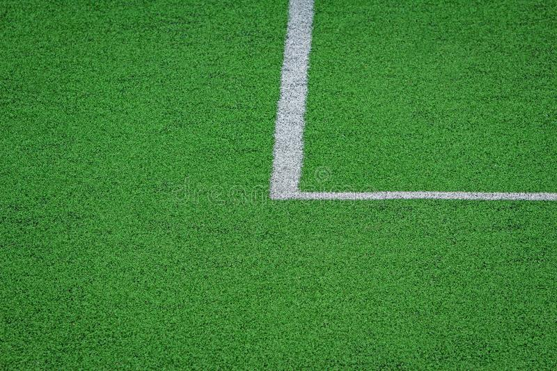 Artificial turf of Soccer football field royalty free stock images