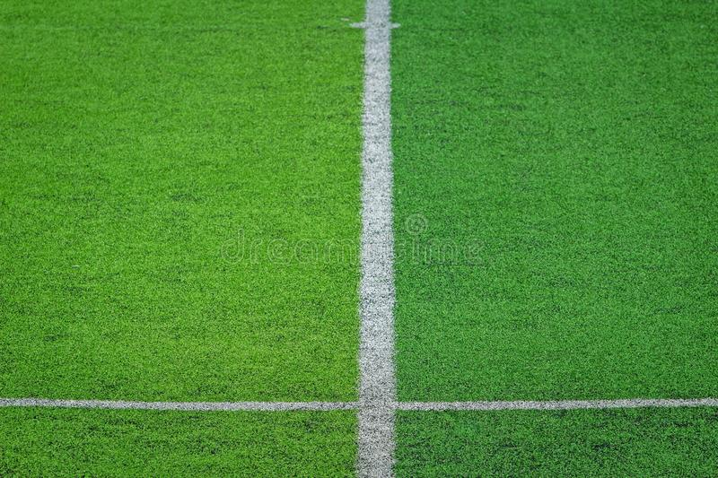 Artificial turf of Soccer football field stock photography