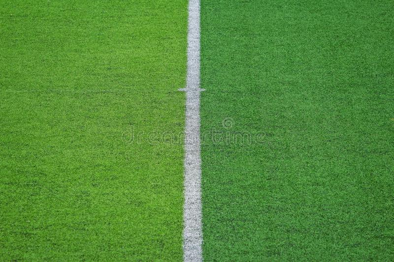 Artificial turf of Soccer football field.  stock images