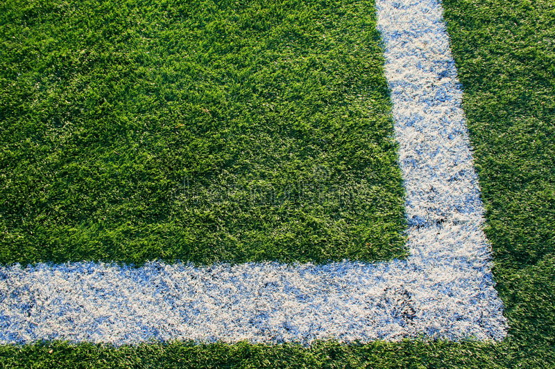 Artificial Turf on a Sports Field stock images