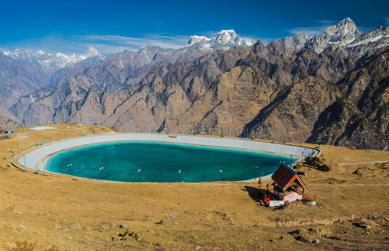 Artificial water body stock image image of auli landmark for Artificial pond water