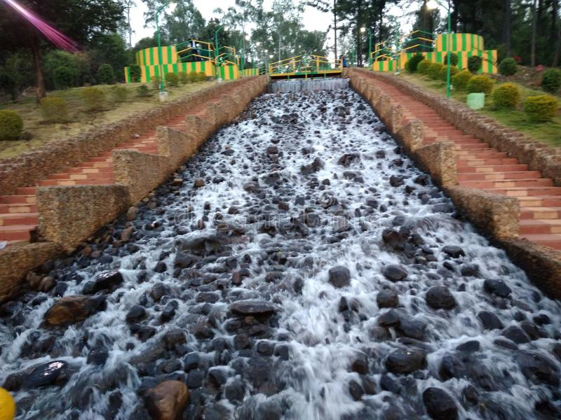 ARTIFICIAL WATER FALL IN DAMANJODI,KORAPUT,ODISHA how wonder it is royalty free stock photos