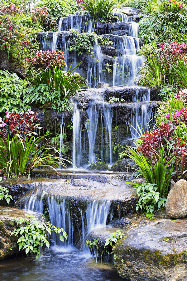 Free Artificial Waterfall Stock Photo - 53856280