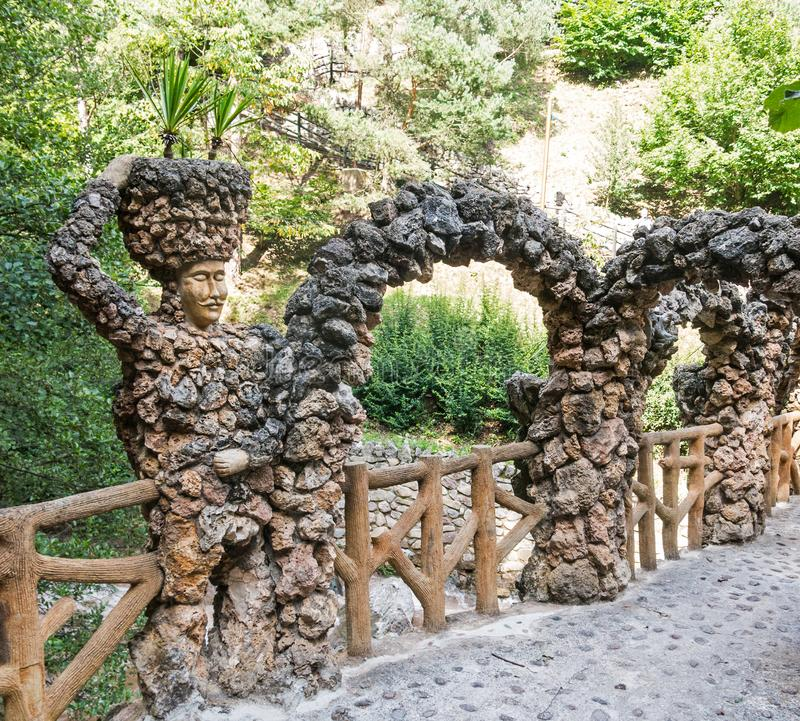 The Artigas Gardens are a park in La Pobla de Lillet, Barcelona. Built between 1905 and 1906, by the modernist architect Antoni royalty free stock images