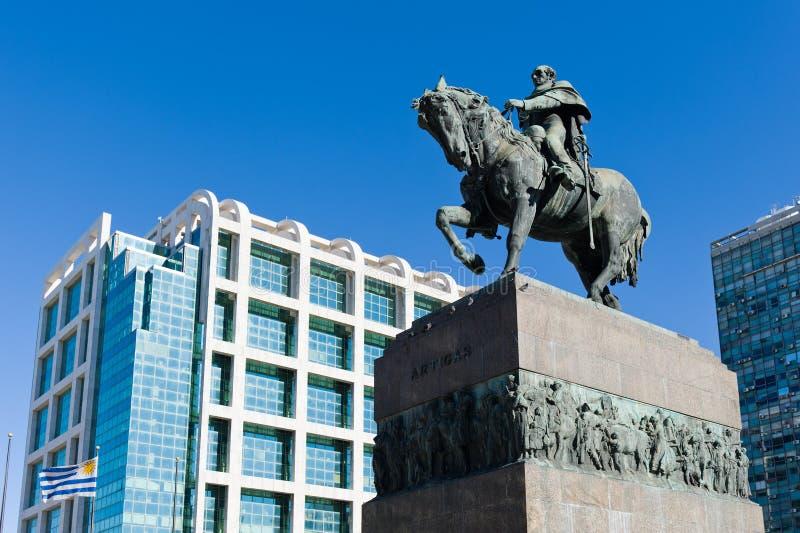 artigas generał Montevideo statua obraz stock
