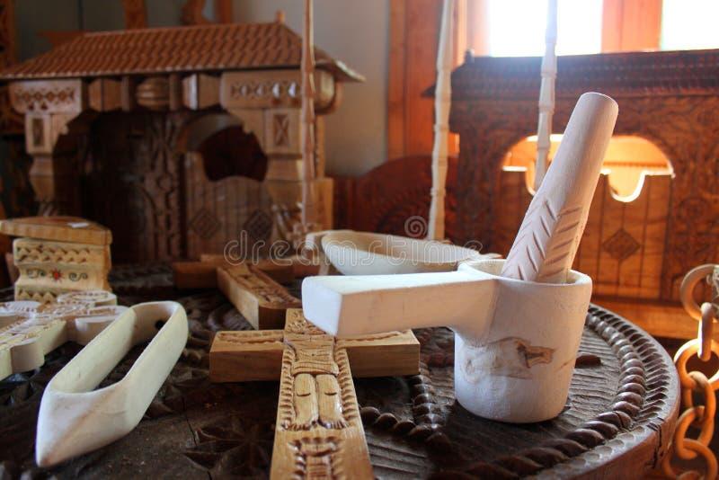 Artigianato di di legno in Maramures fotografia stock libera da diritti