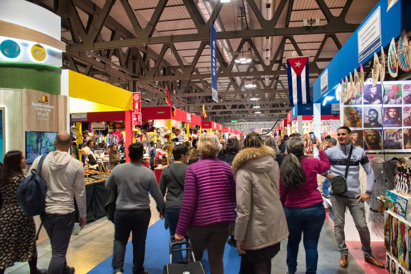 Artigiano in Fiera, a unique fair to buy, see, touch hand-crafted creations, try the best international cuisine from all over the stock images