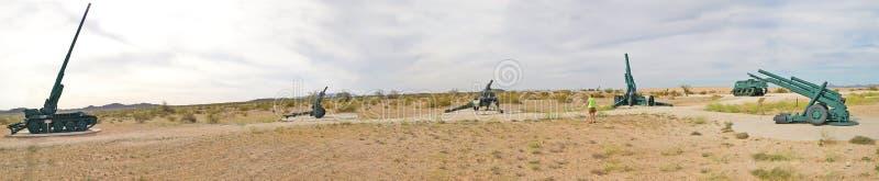 Artiglieria a terra - panorama immagine stock libera da diritti