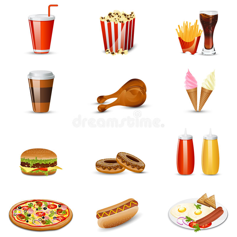Artigo de fast food ilustração stock