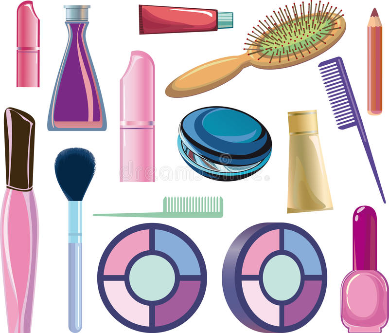 Artigos cosméticos ilustração royalty free