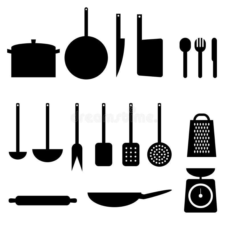 Artigos da cozinha ilustração royalty free