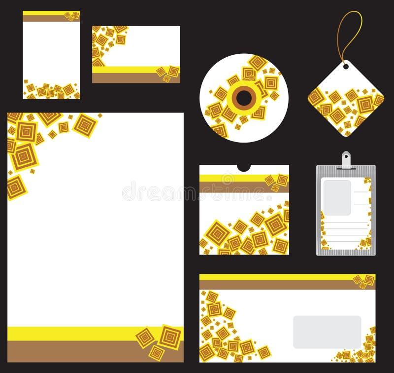 Artigos de papelaria ajustados para o formato do vetor da companhia ilustração stock