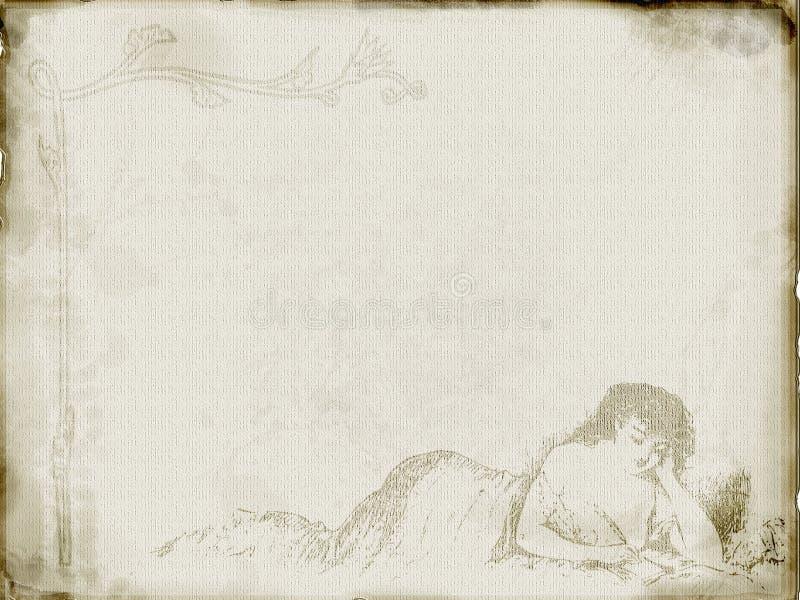 Artigos de papelaria do vintage ilustração royalty free