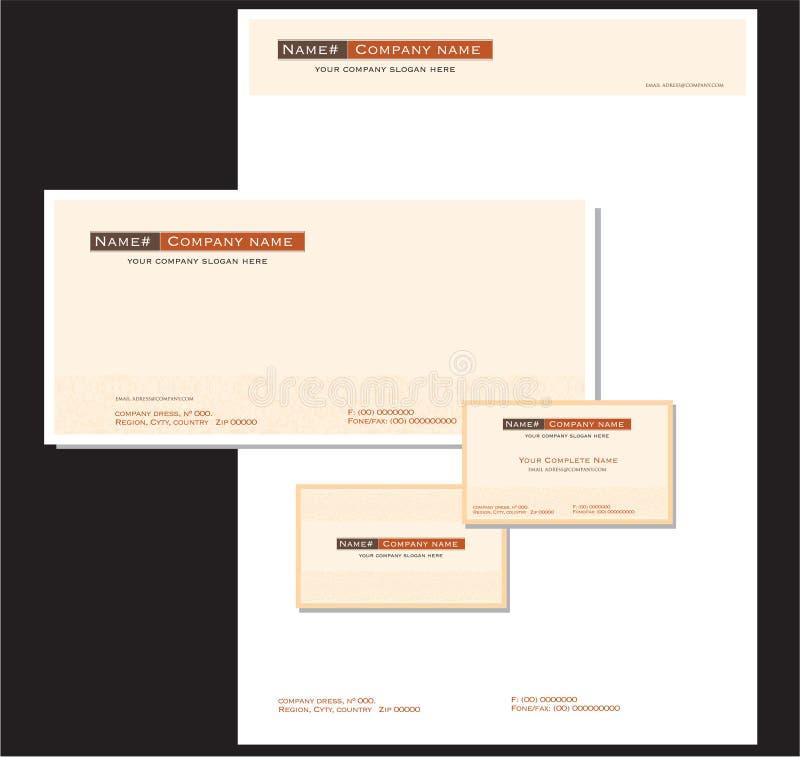 Artigos de papelaria e cartão corporativos ilustração stock