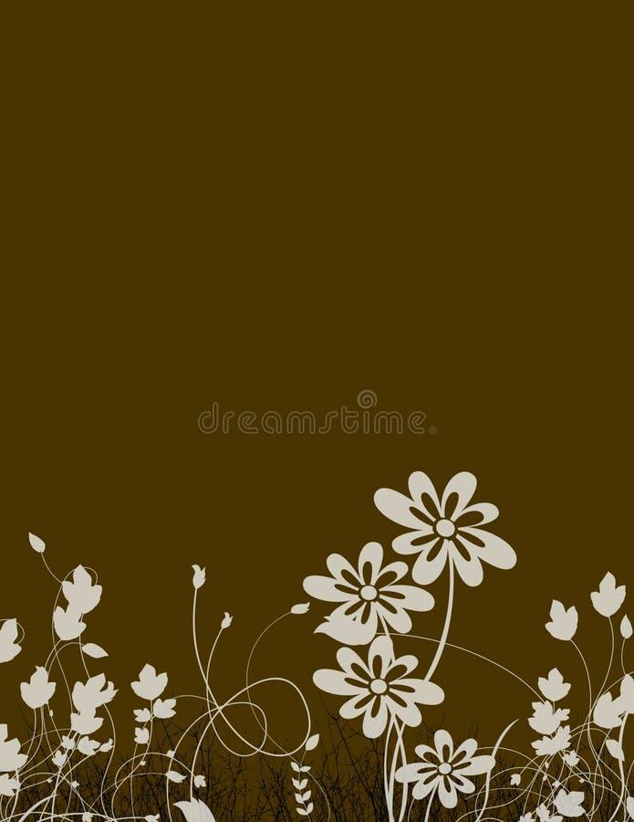 Artigos de papelaria florais ilustração royalty free