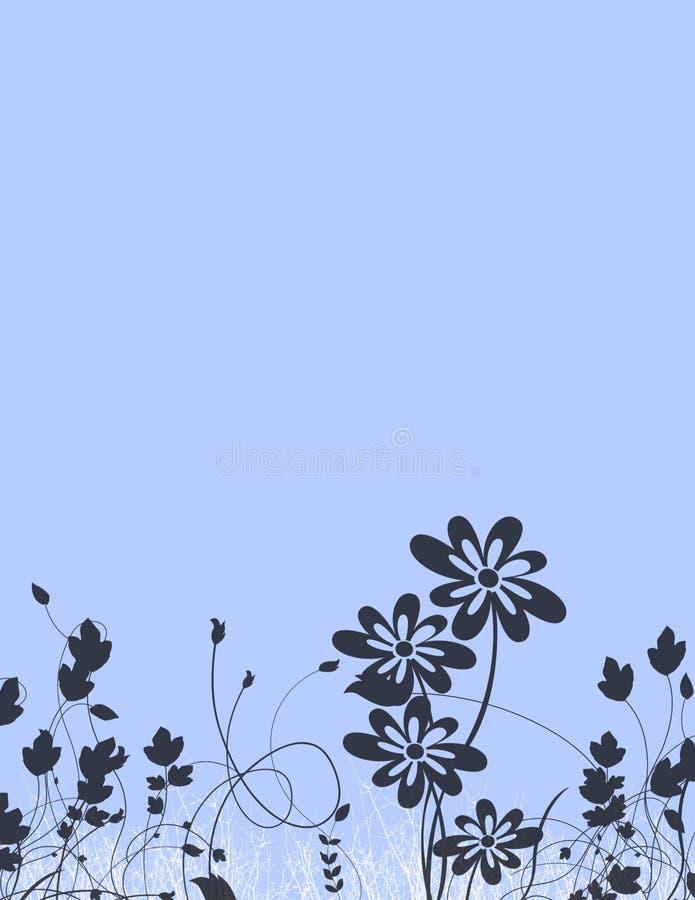 Artigos de papelaria florais ilustração stock