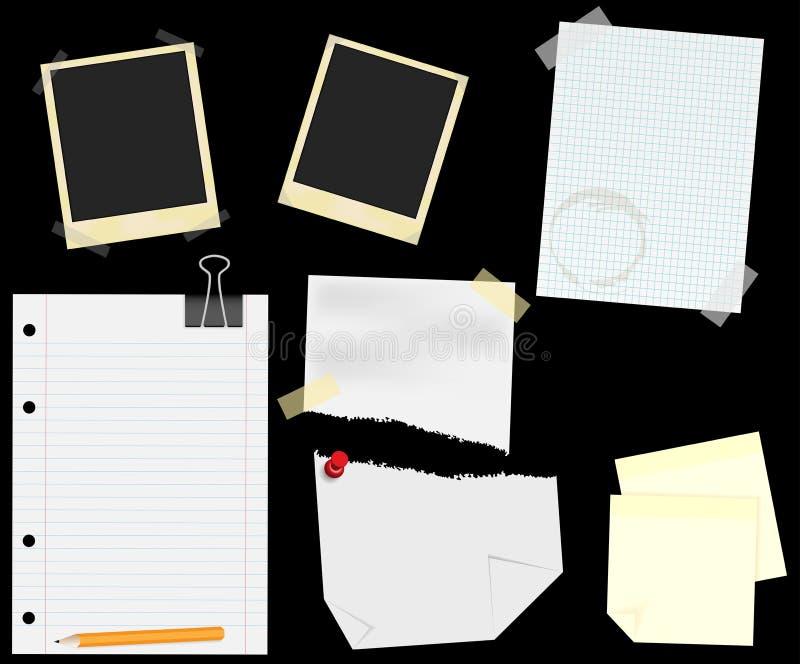 Artigos de papelaria - Scrapbooking ilustração stock