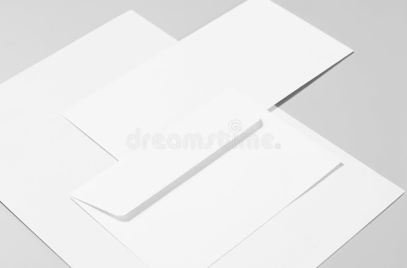 Artigos de papelaria vazios imagem de stock