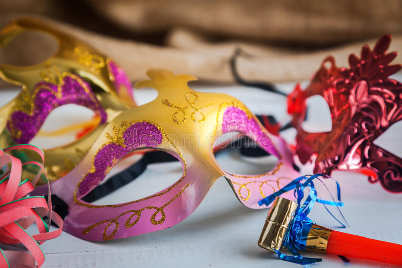 Artigos do carnaval do partido foto de stock royalty free