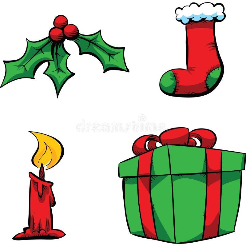 Artigos do Natal ilustração royalty free