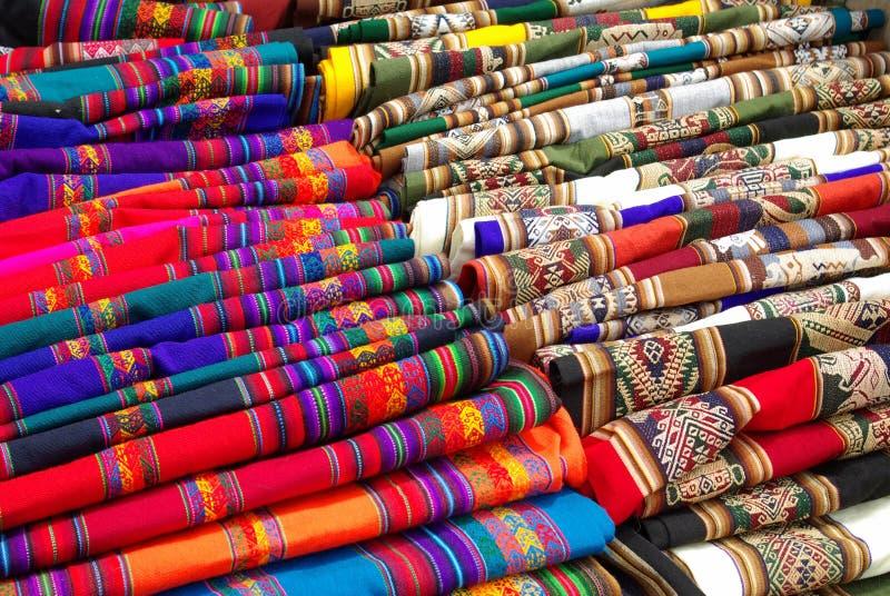Artigos handcrafted bolivianos fotografia de stock
