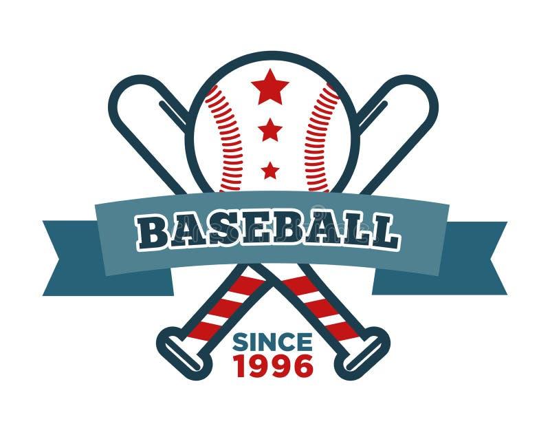 Artigos isolados basebol do esporte do bastão e da bola do ícone ilustração royalty free