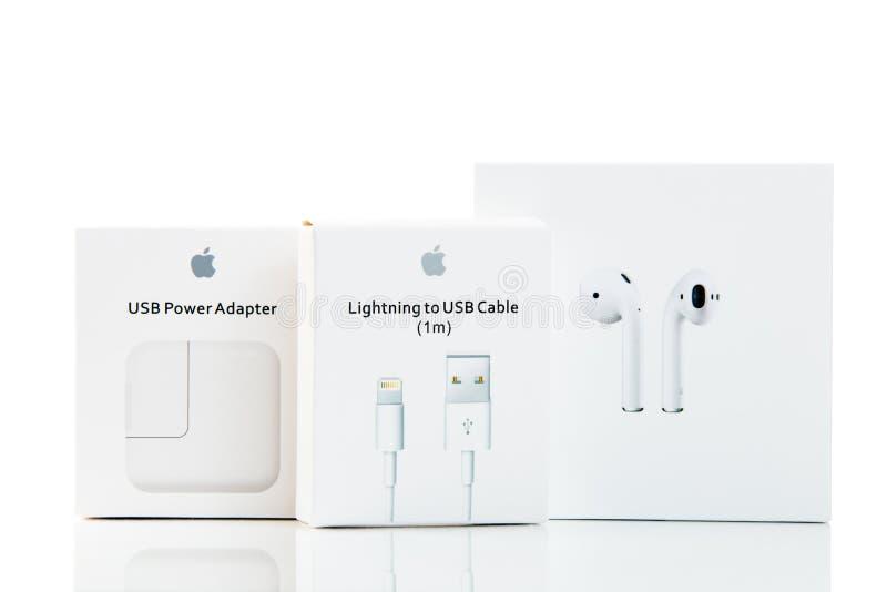 Artigos novos de Apple fotografia de stock
