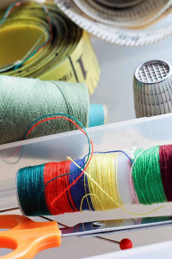 Artigos Sewing foto de stock royalty free