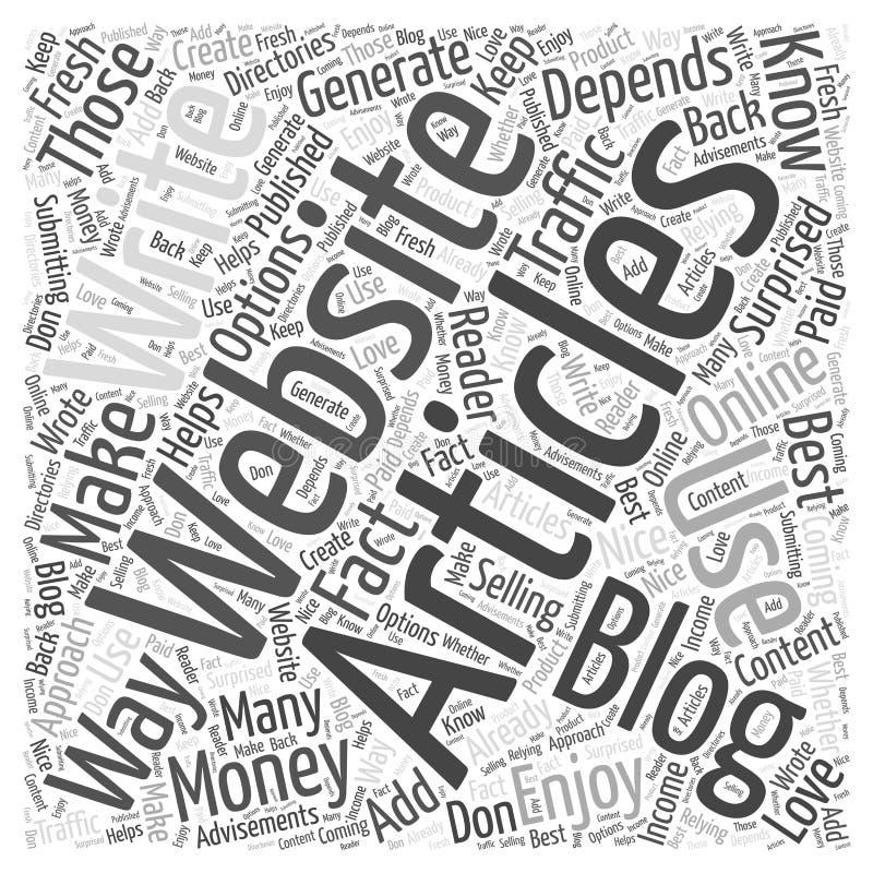 Artigos você escreve o que fazer com que ele a palavra nubla-se o fundo do vetor do conceito ilustração royalty free