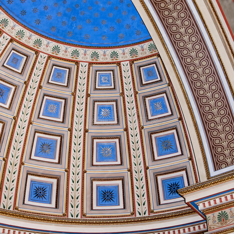Artiistic Abstract Ceiling Detail stock photography