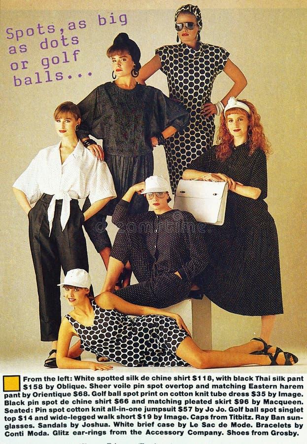 Artikel van de het tijdschriftmanier van uitstekende Australische Vrouwen het Wekelijkse gedateerd Augustus 1986 royalty-vrije stock afbeelding