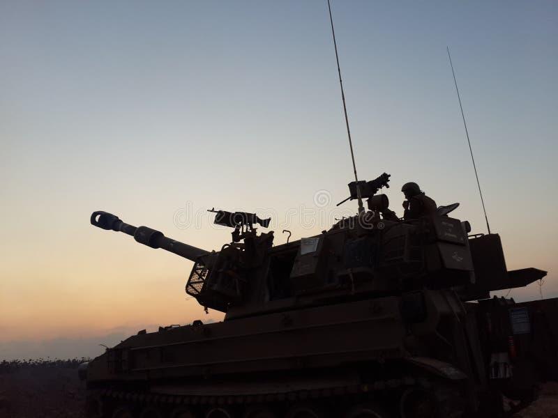 Artilery från IDF royaltyfri bild