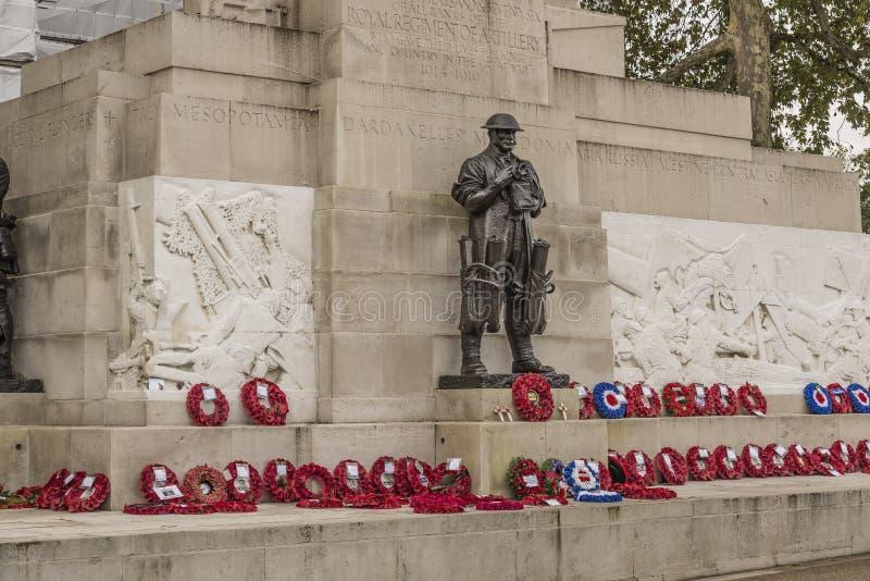 Artillería real Londres conmemorativo Inglaterra imagen de archivo