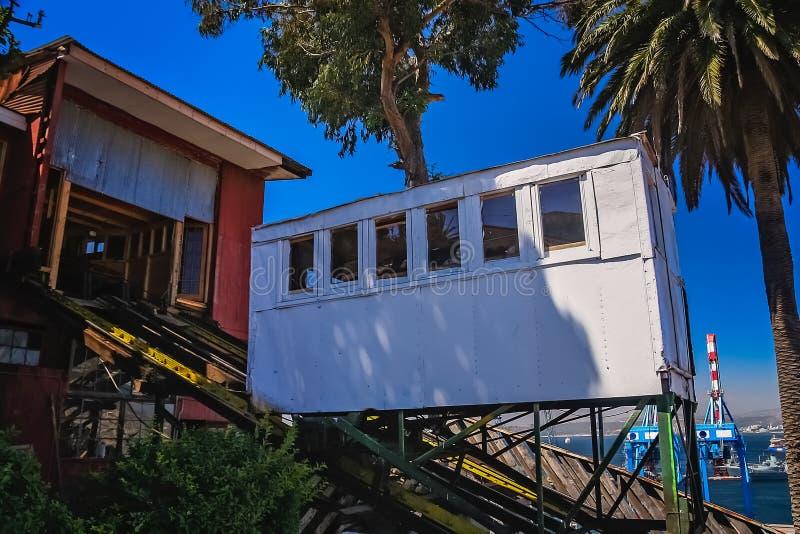 Artilleria funicular en Valparaiso en Chile fotos de archivo libres de regalías