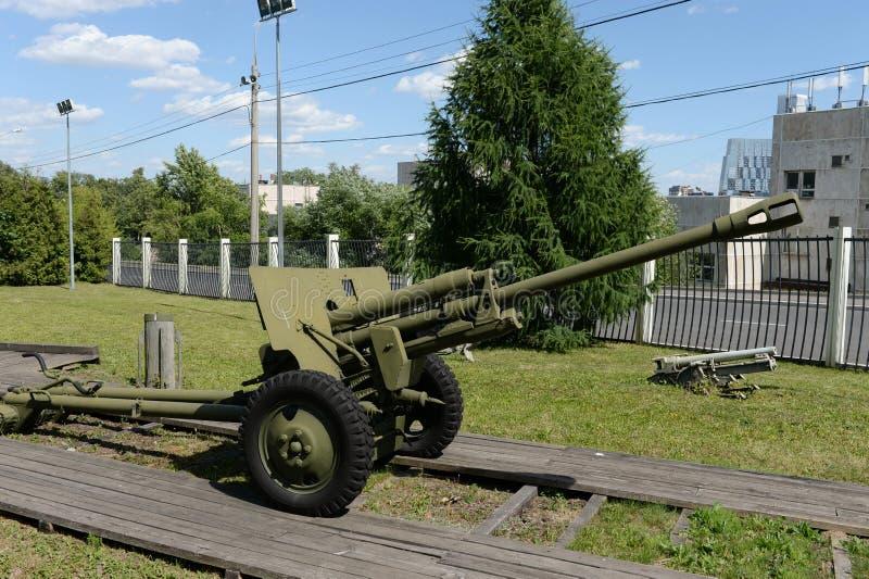 Artillerie dans le musée de l'équipement militaire sur la colline de Poklonnaya à Moscou image stock