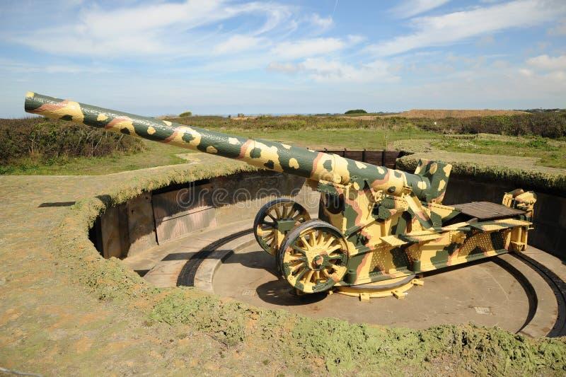 Artillerie des Deutschen WW11 lizenzfreies stockbild