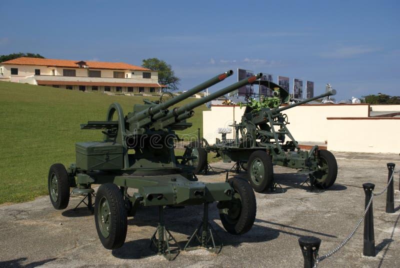 Artillerie, Havana, Cuba royalty-vrije stock afbeeldingen