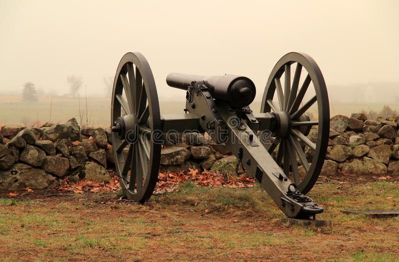 Artillerie sur le séminaire Ridge en parc militaire national de Gettysburg images stock