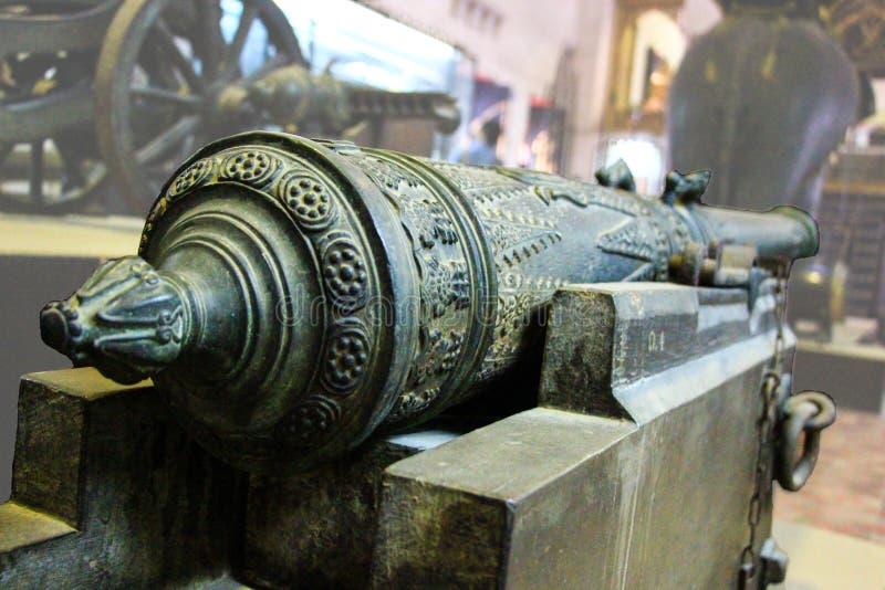 Artillerie van Thailand in het verleden (de Cultuur van Thailand) royalty-vrije stock foto's