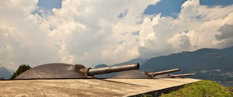 Artilleriedrehköpfe. stockfotografie