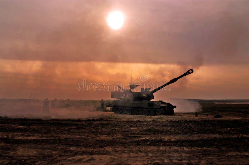 Artillerikår - Israel arkivbild