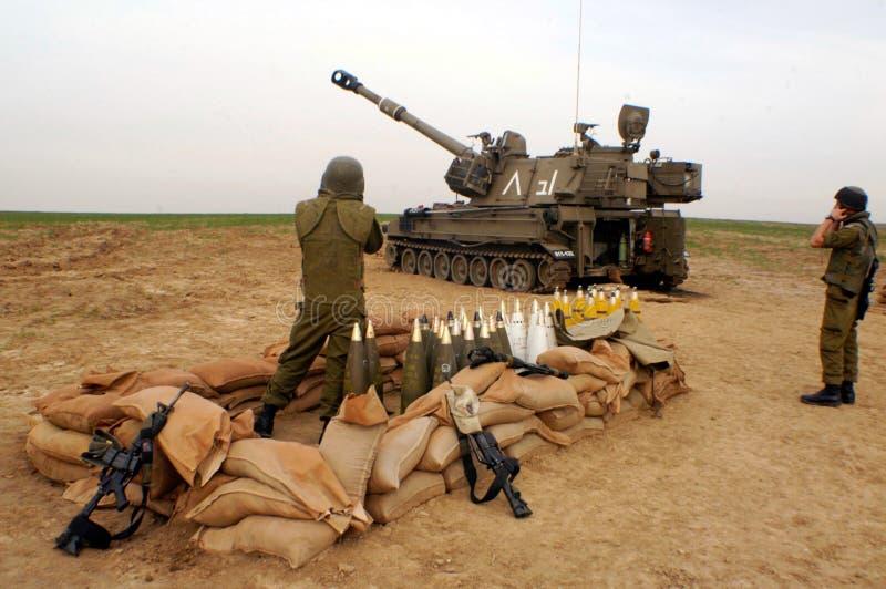 Artillerikår - Israel royaltyfri bild