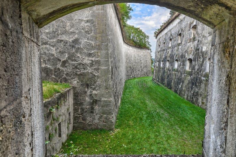 Artillerisikt av bastionsystemet royaltyfria foton