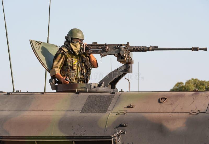 Artillero español del tanque de los infantes de marina imagen de archivo