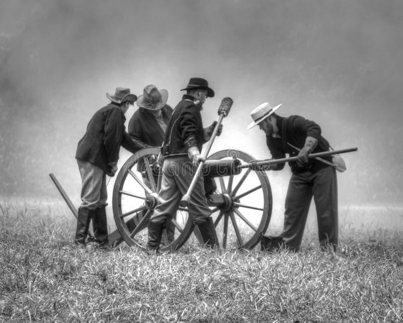 artilleros foto de archivo libre de regalías