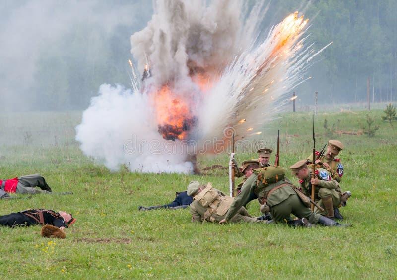 Artillery atack royalty free stock photos