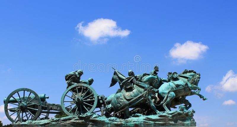 Artillery Group. General Grant Memorial Artillery Group stock photography