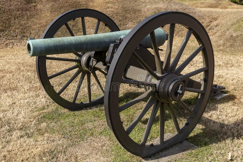 Artillery piece at Vicksburg National Military Park Mississippi. Vicksburg National Military Park preserves the site of the American Civil War Battle of royalty free stock image